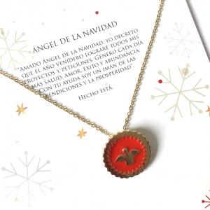 collar ángel de navidad